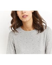 Oasis - Gray Heart Foil Sweat - Lyst