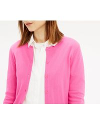 Oasis - Crew Neck Cardigan - Pale Pink - Lyst