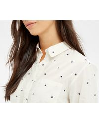Oasis - Multicolor Star Shirt - Multi White - Lyst