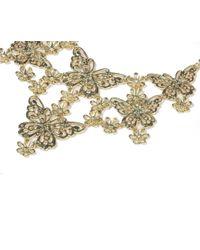 Oasis   Metallic Butterfly Collar   Lyst