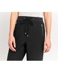 Oasis - Black Sporty Cuff Trouser - Lyst