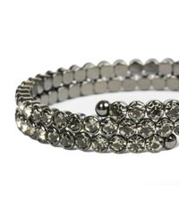 Oasis - Gray Sparkle Coil Bracelet - Lyst