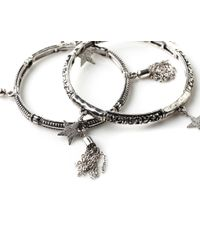 Oasis - Metallic 2 Pack Star Bracelet - Lyst