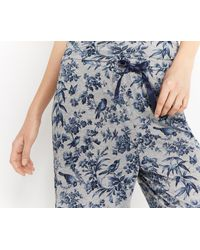 Oasis - Gray Printed Pj Trousers - Lyst