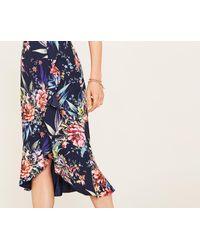 Oasis - Blue Citrus Floral Frill Skirt - Lyst