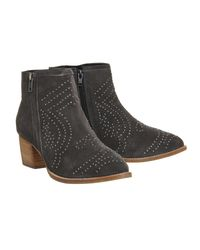 Office - Gray Luna Studded Western Boots - Lyst