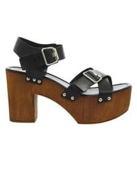 Office - Black Whitney 2 Buckle Strap Chunky Sandal - Lyst