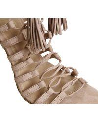 Office - Natural Adorned Multi Strap Single Sole Sandal - Lyst