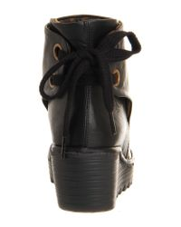Fly London   Black Yama Wedge Ankle Boots   Lyst