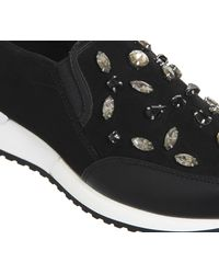 Office - Black Pansy Gem Slip On Trainers - Lyst