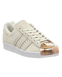 Adidas - White Superstar 80s Metallic-Toe Sneakers for Men - Lyst