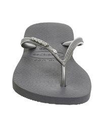 Havaianas - Gray You Metallic Flip Flops - Lyst