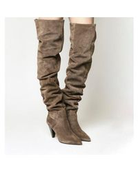 Office - Natural Kone- Ultra High Slouch Knee Boot - Lyst