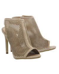 Office - Brown Teagan Perforated Slingback Shoe Boots - Lyst