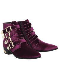 Office - Purple Alabama Multi Buckle Western Boots - Lyst