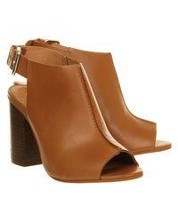 Office - Brown Garnet Cuff Block Heel - Lyst