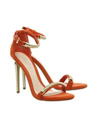 Office - Orange Phantom High Heel Sandals - Lyst