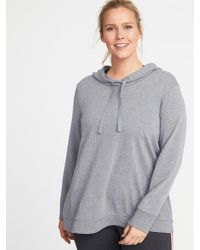 2f7ec79cc0f28a Old Navy French-terry Plus-size Swing Hoodie in Gray - Lyst