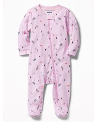 Old Navy Pink Footed One-piece