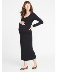 35ab10f354b Lyst - Old Navy Maternity Scoop-neck Jersey Maxi Dress in Black