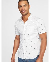 c8d998c2920 Lyst - Old Navy Slim-fit Built-in Flex Everyday Oxford Shirt in ...