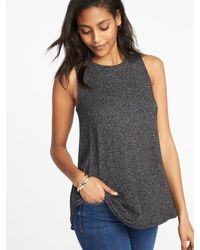 4b08ae48d7 Lyst - Old Navy Luxe Soft-spun High-neck Swing Tank in Gray