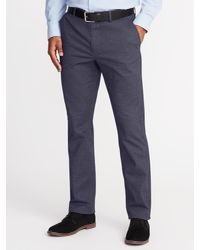 Old Navy - Blue Straight Signature Built-in Flex Non-iron Pants for Men - Lyst
