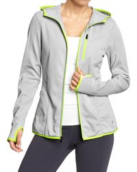 Old Navy - Gray Women's Tricot-fleece Running Jackets - Lyst