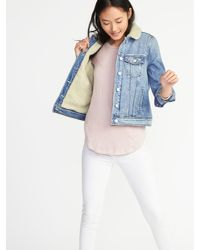 c0321a8ab10 Lyst - Old Navy Sherpa-lined Denim Jacket in Blue