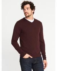 Old Navy - Purple V-neck Sweater for Men - Lyst