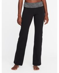 50f70f73a3712 Old Navy Mid-rise Wide-leg Roll-over Yoga Pants in Black - Lyst