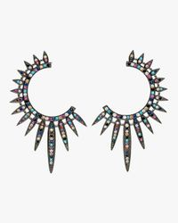 Nickho Rey - Blue Statement Sunburst Earrings - Lyst