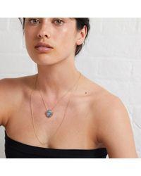 Oliver Bonas - Metallic Tallulah Druzy Multirow Gold Plated Pendant Necklace - Lyst