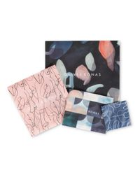 Oliver Bonas - Metallic Curved Textured Thread Through Hoop Earrings - Lyst