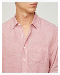 Onia - Pink Abe Linen Shirt for Men - Lyst