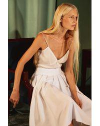 Khaite - White The Alexa Skirt - Lyst