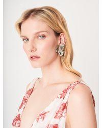 Oscar de la Renta - Multicolor Grape Leaf Earrings - Lyst