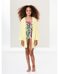 Oscar de la Renta - Yellow Lemon Terry Hooded Cover-up - Lyst