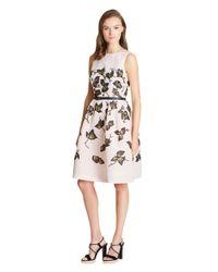 Oscar de la Renta | Multicolor Exclusive Painted Sequin Degrade Embroidered Silk Faille Dress | Lyst