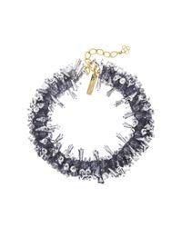 Oscar de la Renta - Metallic Beaded Collar Necklace - Lyst