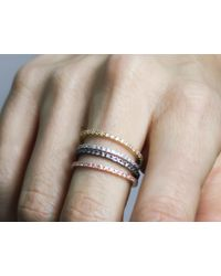 Astrid & Miyu   Pink The Perfect One Ring In Rose Gold   Lyst