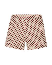 Alice + Olivia - Red Marisa Back Zip Shorts for Men - Lyst