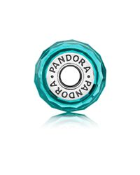 Pandora - Blue Teal Shimmer Glass Murano Charm - Lyst