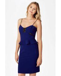 Parker   Blue Sachi Combo Dress   Lyst