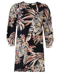 Stella McCartney | Rita Cat Print Shift Dress Black | Lyst