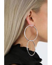 Jennifer Fisher | Metallic Interlocking Smooth Circle Earrings Silver | Lyst