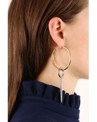 Balenciaga - Metallic Large Tool Pendant Earring Gold/silver - Lyst