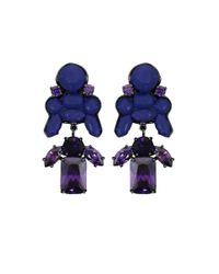 EK Thongprasert | Blue Stepney Drop Earrings Navy/amethyst Crystals | Lyst