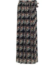 Isabel Marant - Etoile Sesley Wrap Maxi Skirt Black Print - Lyst