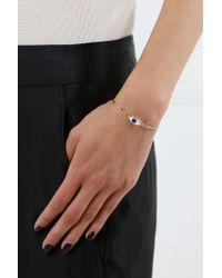 Delfina Delettrez - Metallic Grandma Eyes On Me Bracelet Gold/blue - Lyst